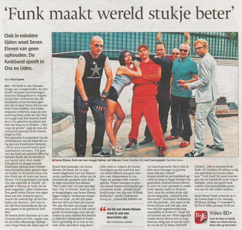 Funk maakt wereld stukje beter (Brabants Dagblad 14 sept 2013)