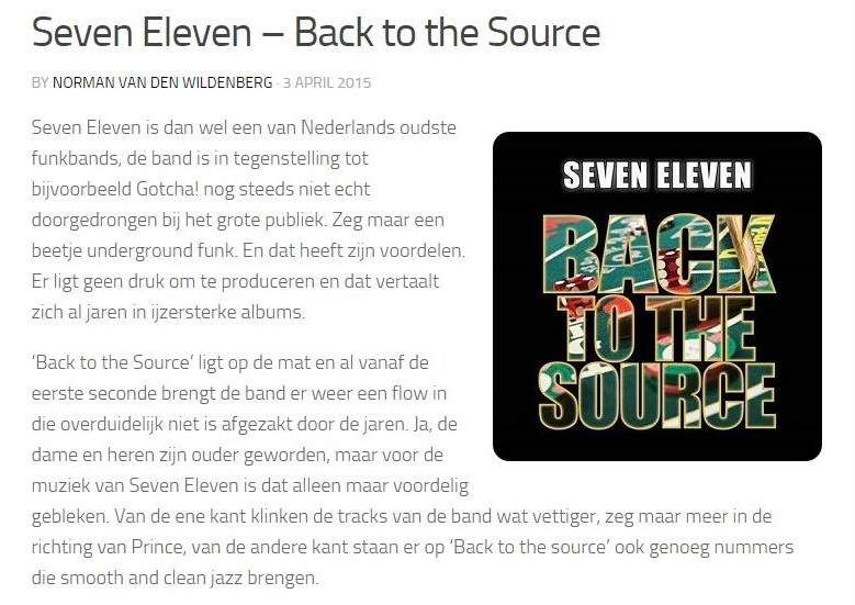 Jazzzine - Seven Eleven - Back to the Source