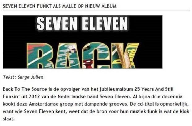 Seven Eleven funkt als malle op nieuw album (Cultuurpodium Online)
