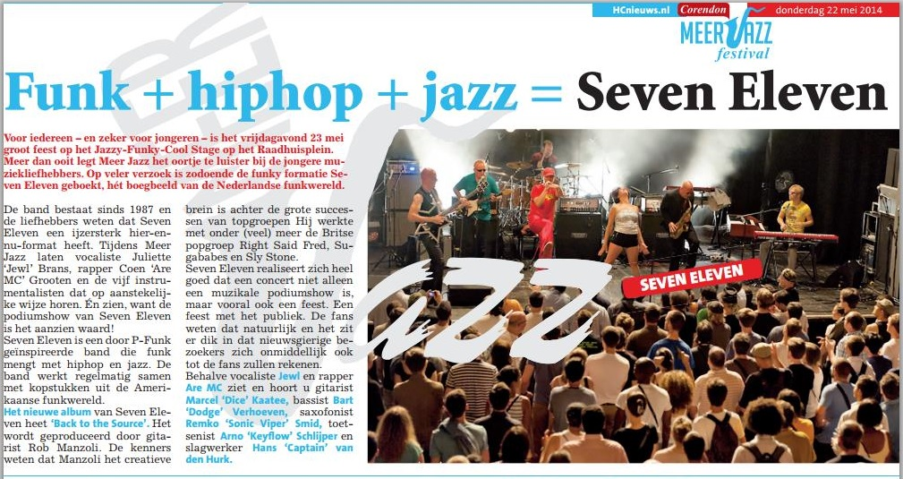 Seven Eleven is Funk plus Hiphop plus Jazz (Meer Jazz Fest 2014)