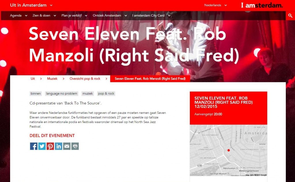 Seven Eleven cd-release in iAmsterdam
