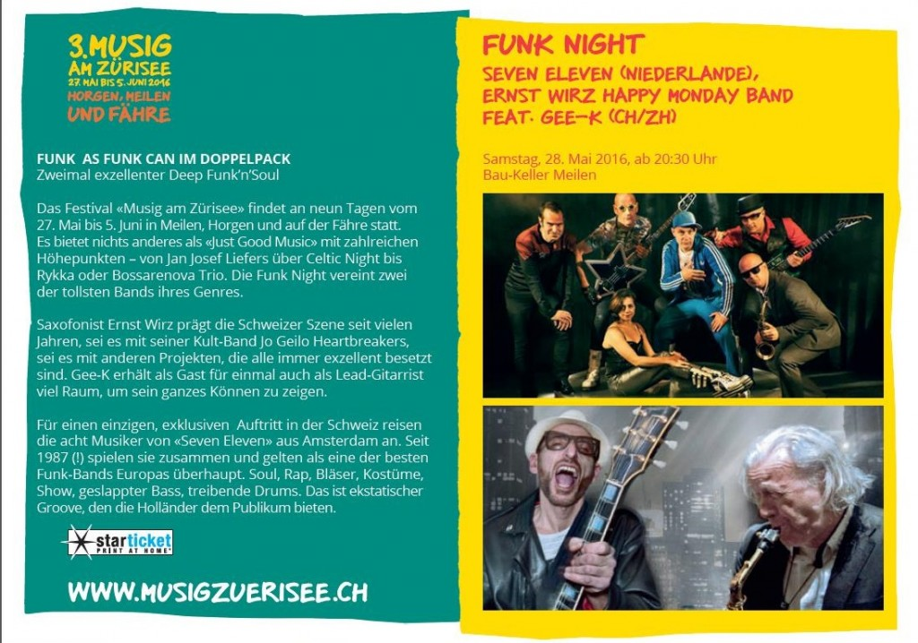 Funk Night in Meilen (CH) with SEVEN ELEVEN